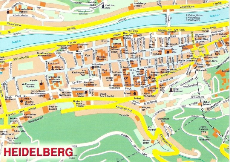 Projek Satu Dunia (One World Project)™: Germany - Map Of Heidelberg regarding City Map Of Heidelberg Germany
