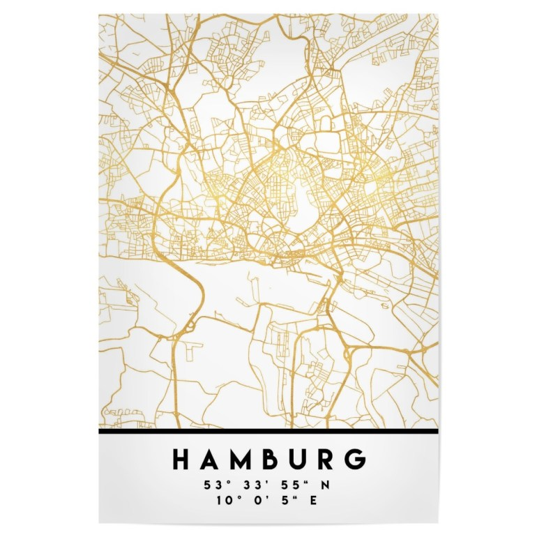 Purchase The Hamburg Germany Street Map Art As A Poster At Artboxone intended for Hamburg Germany Street Map