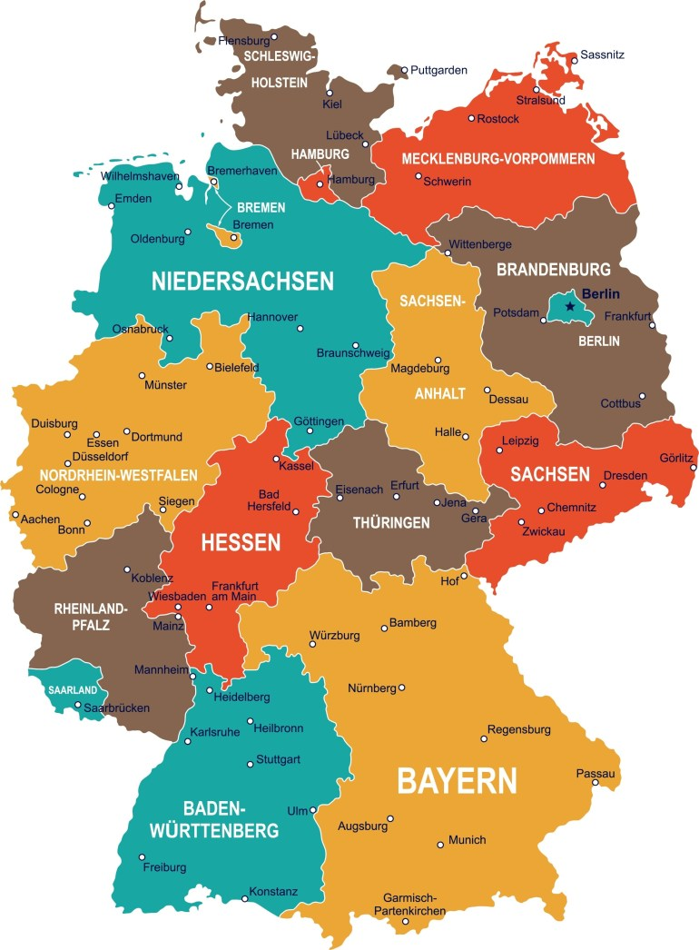 Regional Day Tickets: Discover Germany's Regionstrain | Db for Erlangen Germany Map