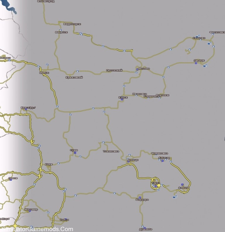 Russian Map For Gts   Simulator Games Mods Download intended for German Truck Simulator Map Mods