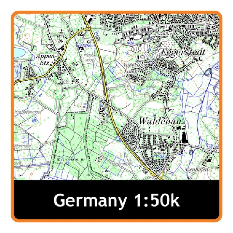 Satmap Mapcard: Germany Whole 1:50K Mapcard | Ordnance Survey Shop regarding German Ordnance Survey Maps