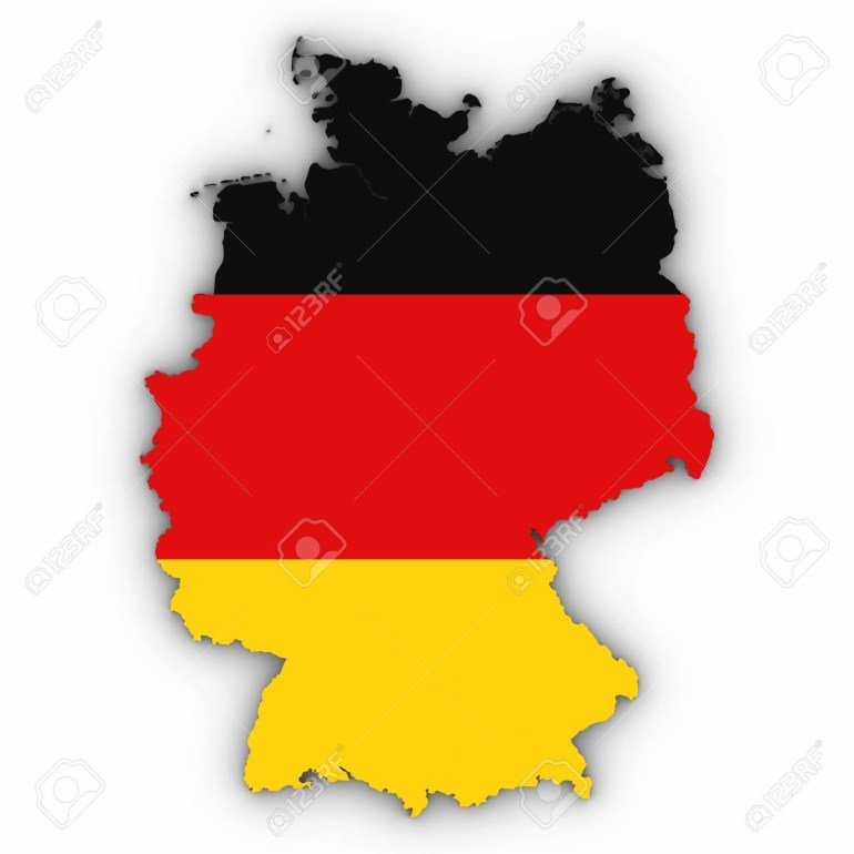 Stock Illustration within Germany Map Outline