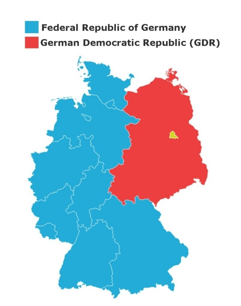 Story Of The Berlin Wall: Division And Reunification Of Germany intended for Map Of Divided Germany During The Cold War