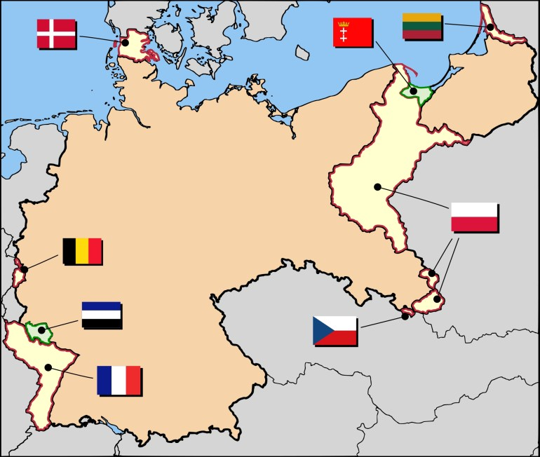 Territorial Evolution Of Germany - Wikipedia with Map Of Germany After Ww1