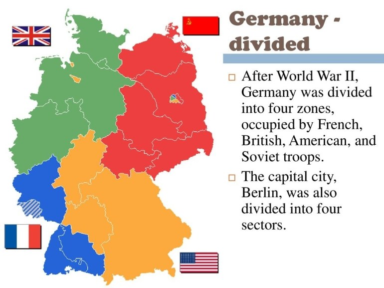 how was germany divided after ww2