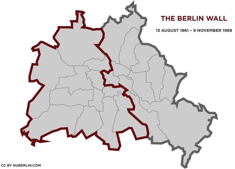 The Berlin Wall (1961–1989) - Things To Do In Berlin - Nuberlin in Berlin Wall Map Germany