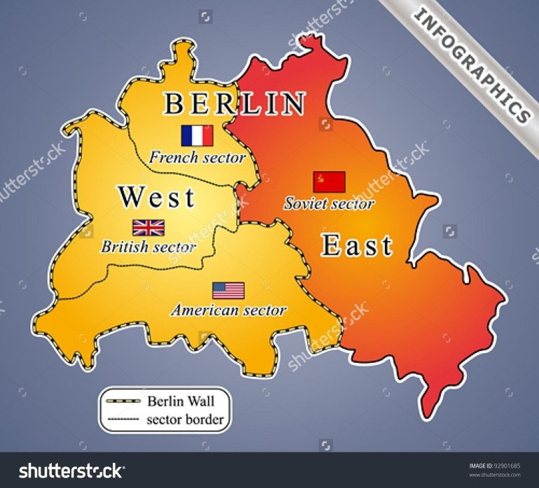 The Berlin Wall Was Built In The Wake Of World War Ii, Dividing inside Berlin Wall Map Germany