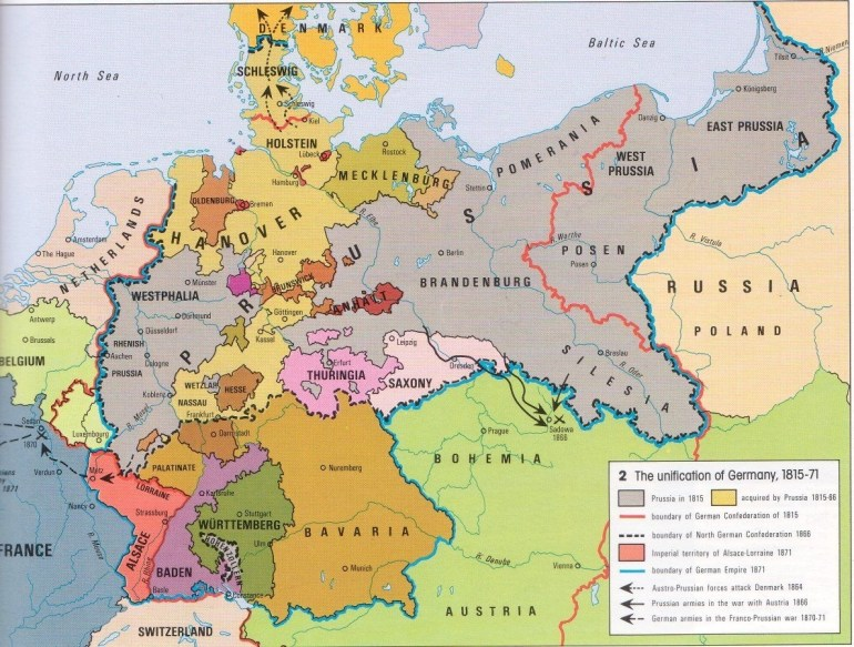 The Unification Of Germany 1815-71. This Map Gave Me Flashbacks Of within Map Of German States Before Unification