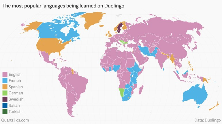 These Are The Languages The World Is Trying To Learn | World in World Map In German Language
