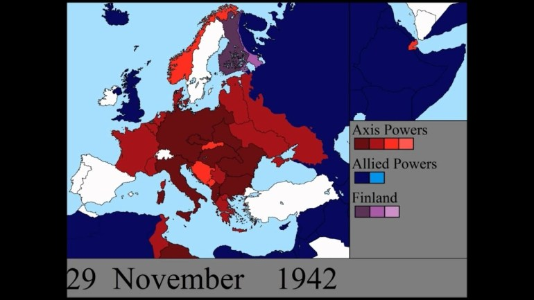 World War Ii In Europe: Every Day throughout Map Of Germany During World War Two