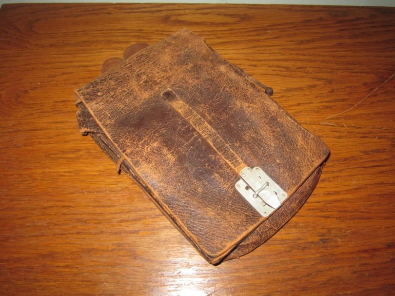 Ww2 German Luftwaffe M35 Leather Dispatch Map Case - Early - Aufkl.gr. 24  Rare! within Ww2 German Map Case