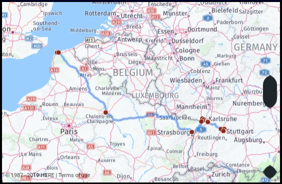 Distance From Stuttgart Germany To Calais France Google with regard to Google Maps Katharinenhospital Stuttgart