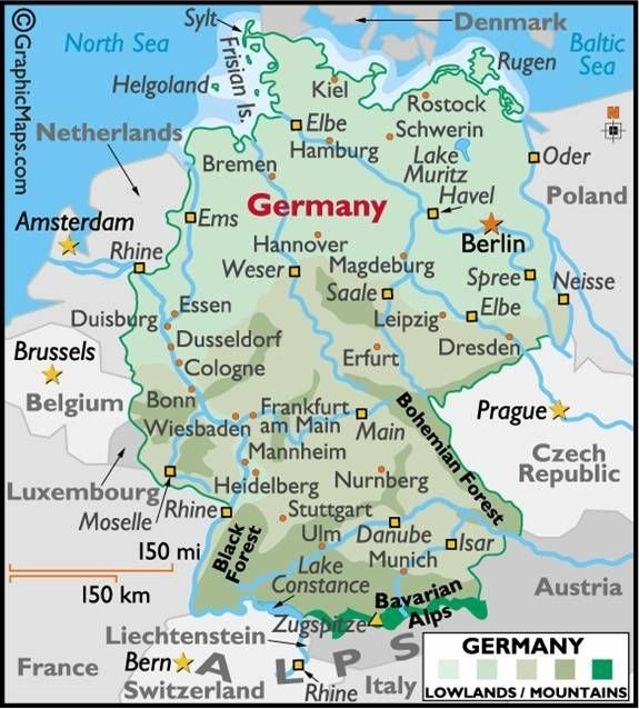 Pictures Of Rhine River In Germany | Rhine River Germany with Stuttgart Germany On The Map