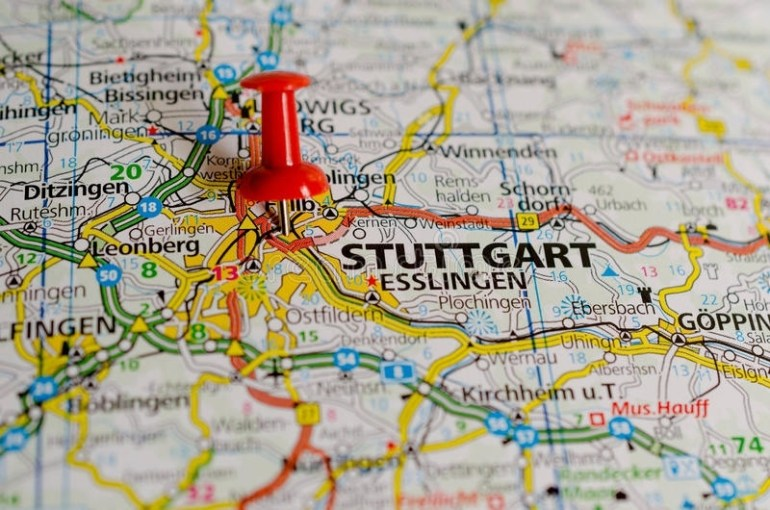 Red Push Pin Map Germany Stock Photos - Download 40 for Stuttgart Germany On The Map