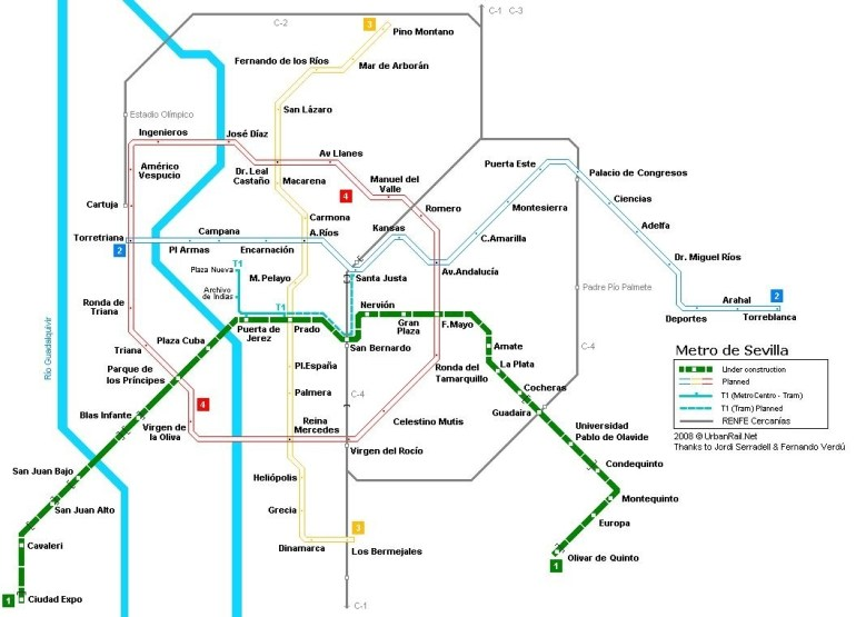 Sevilla Treinstation Kaart - Kaart Van Sevilla En Het throughout Stuttgart Metro Map 2019