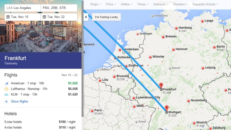 Skyteam Business Class $1,100 To $1,650 Round Trip Usa To in Google Maps Stuttgart Flughafen