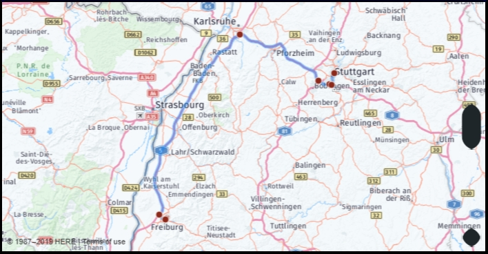 What Is The Distance From Freiburg Germany To Stuttgart for Augsburg Stuttgart Google Maps