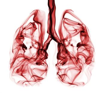 Abstract Smoke Image of Lungs