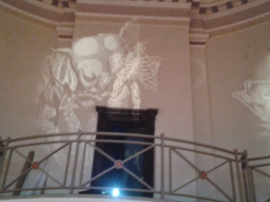 Benjamin Oliver OXYOPIA at The Ashton Memorial - Projections 03 - 17th May 2014. Photo by Claire Kingston