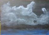 Acrylic on canvas night beach scene by Oya Arts