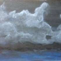 Acrylic on canvas night beach scene by Oya Arts