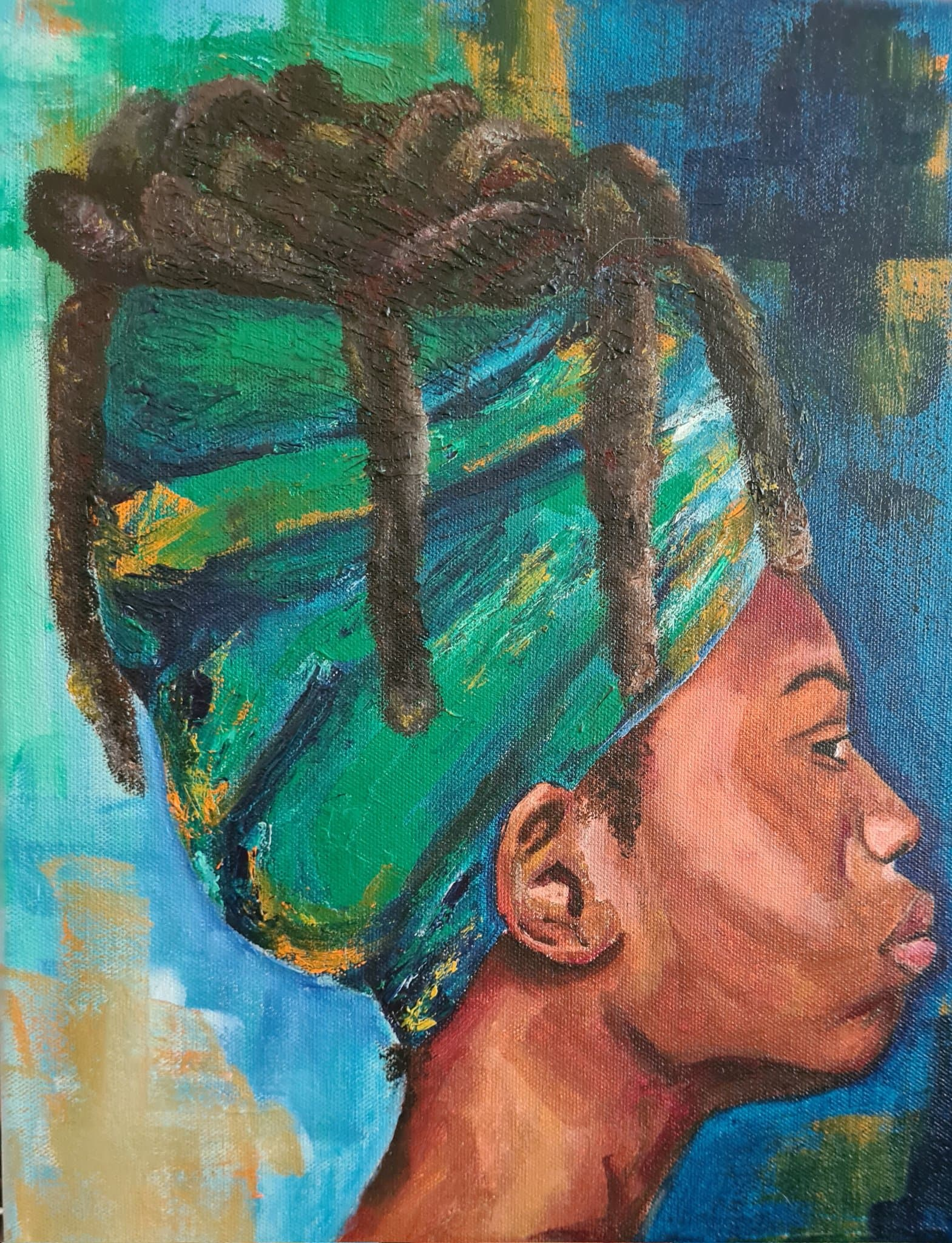 black canvas art