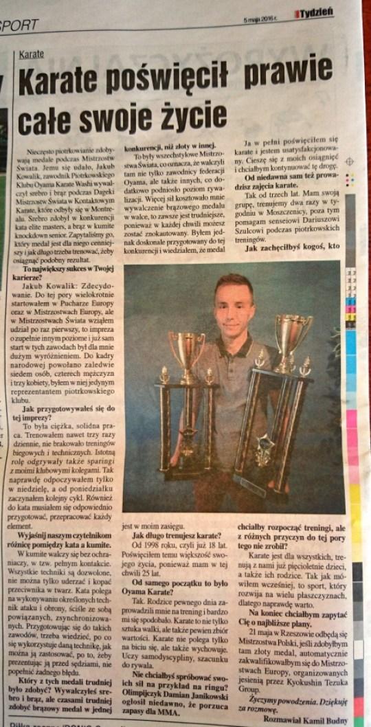 Wywiad z Jakubem Kowalikiem - Tydzień Trybunalski 5. maja 2016