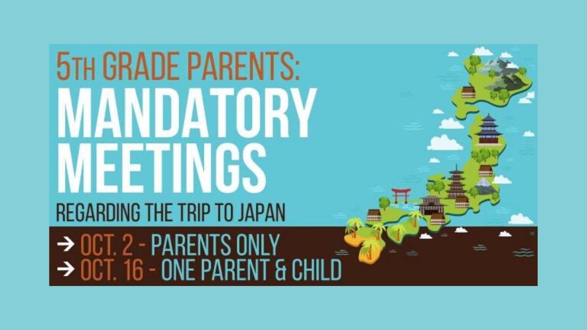 5th Grade Parents – Mandatory Meetings