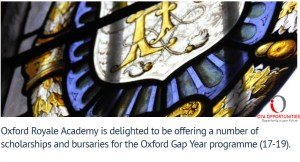 Oxford Royale Academy Scholarship in UK