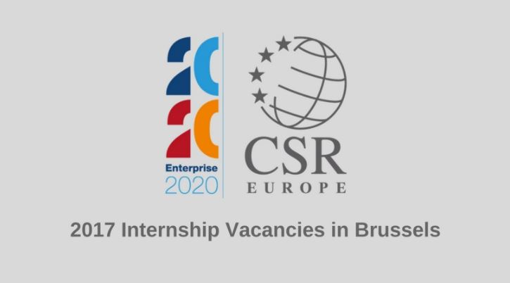 Internship at Corporate Social Responsibilities(CRS) in Brussels