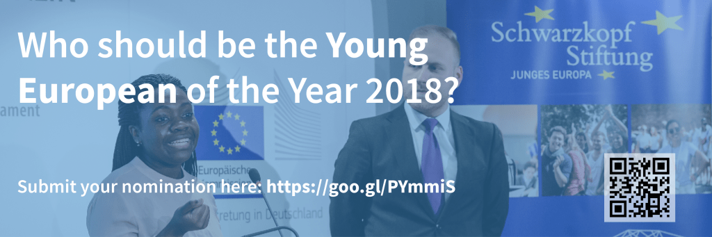 Apply for Young European of the Year 2018!