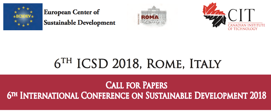 The International Conference on Sustainable Development
