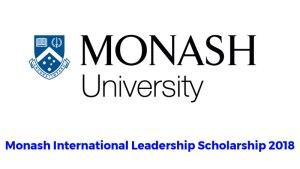 Fully Funded Monash International Leadership Scholarship in Australia