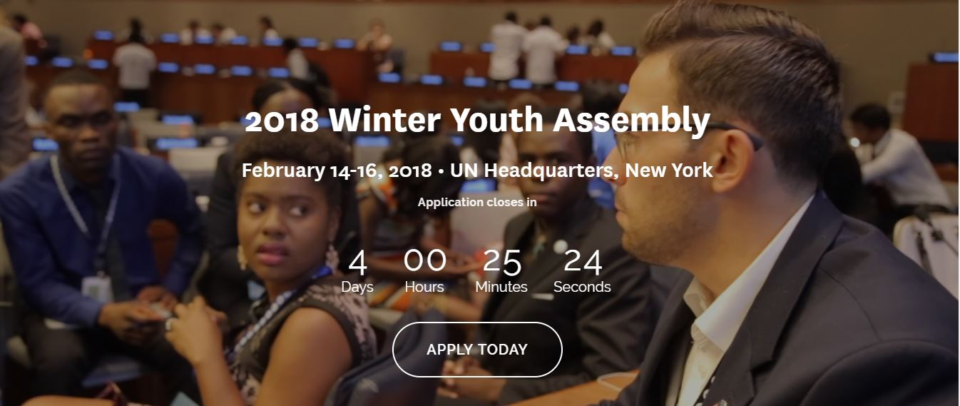 The United Nation Winter Youth Assembly 2018 in New York
