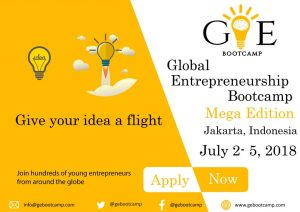 Partially Funded Global Entrepreneurship Bootcamp in Jakarta, Indonesia