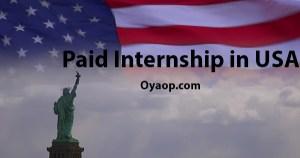 Paid Internship in USA