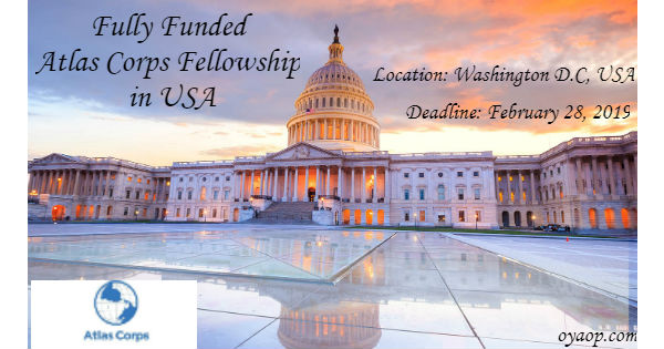 Fully Funded Atlas Corps Fellowship