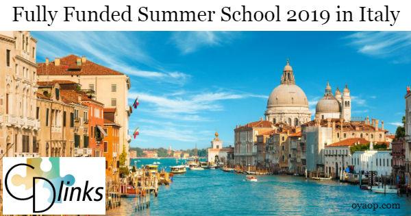 Fully Funded Summer School 2019 in Italy - OYA Opportunities | OYA