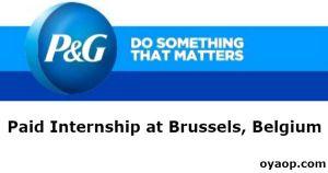 Paid Internship at Brussels, Belgium