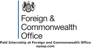 Paid Internship at Foreign and Commonwealth Office