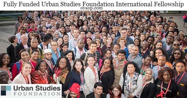 Urban Studies Foundation International Fellowship