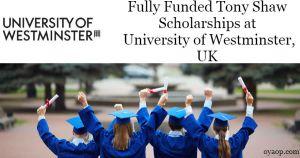 Tony Shaw Scholarships