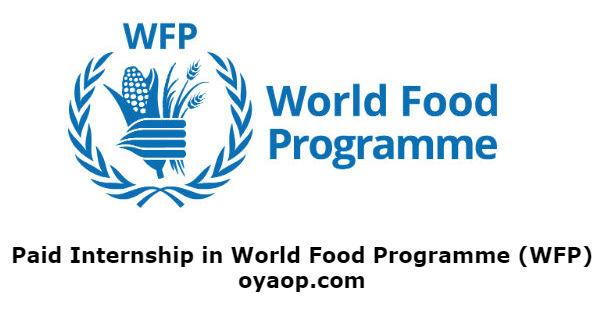 Paid Internship in World Food Programme (WFP)