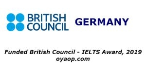 Funded British Council - IELTS Award, 2019