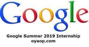 Google Summer 2019 Internship
