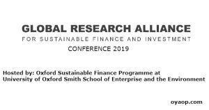 Global Research Alliance for Sustainable Finance and Investment Conference 2019