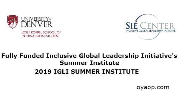 Fully Funded Inclusive Global Leadership Initiative's Summer Institute