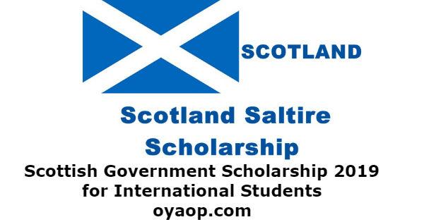 Scottish Government Scholarship 2019 for International Students