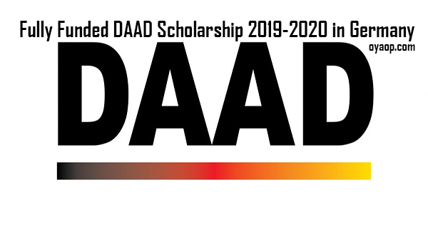 Fully Funded DAAD Scholarship 2019-2020 in Germany