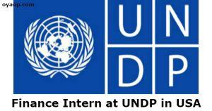 Finance Intern at UNDP in USA